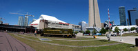 Toronto Rail Museum and Rogers Centre Panorama