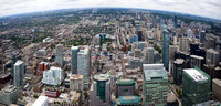 Toronto Looking North from CN Tower Panorama